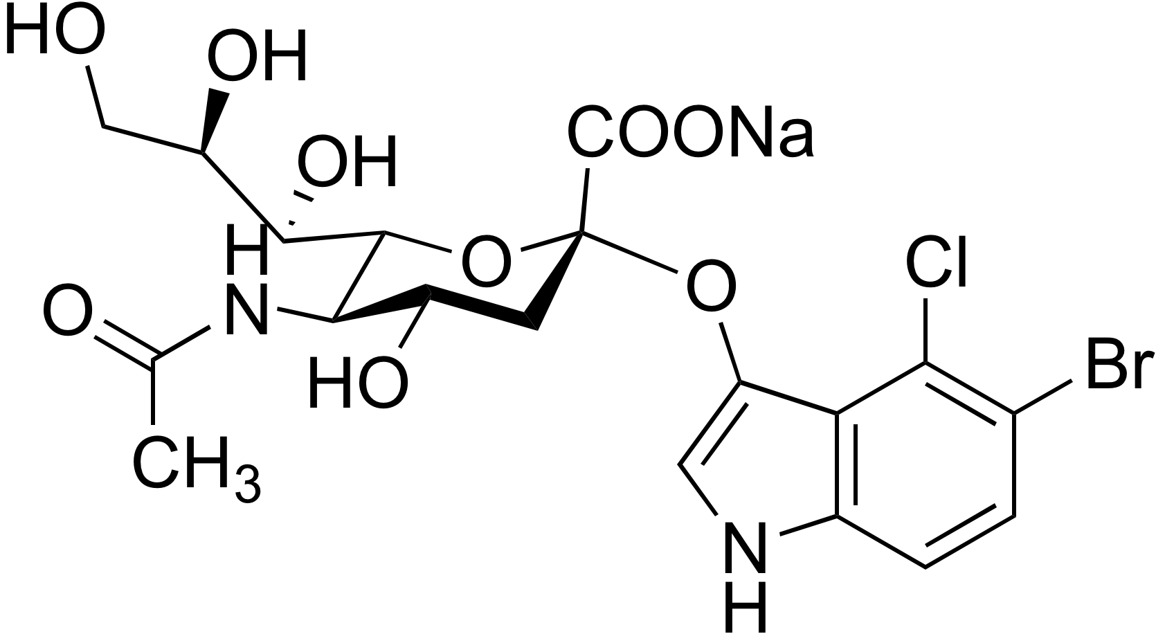 5-Bromo-4-chloro-3-indolyl α-D-N-acetylneuraminic acid sodium salt