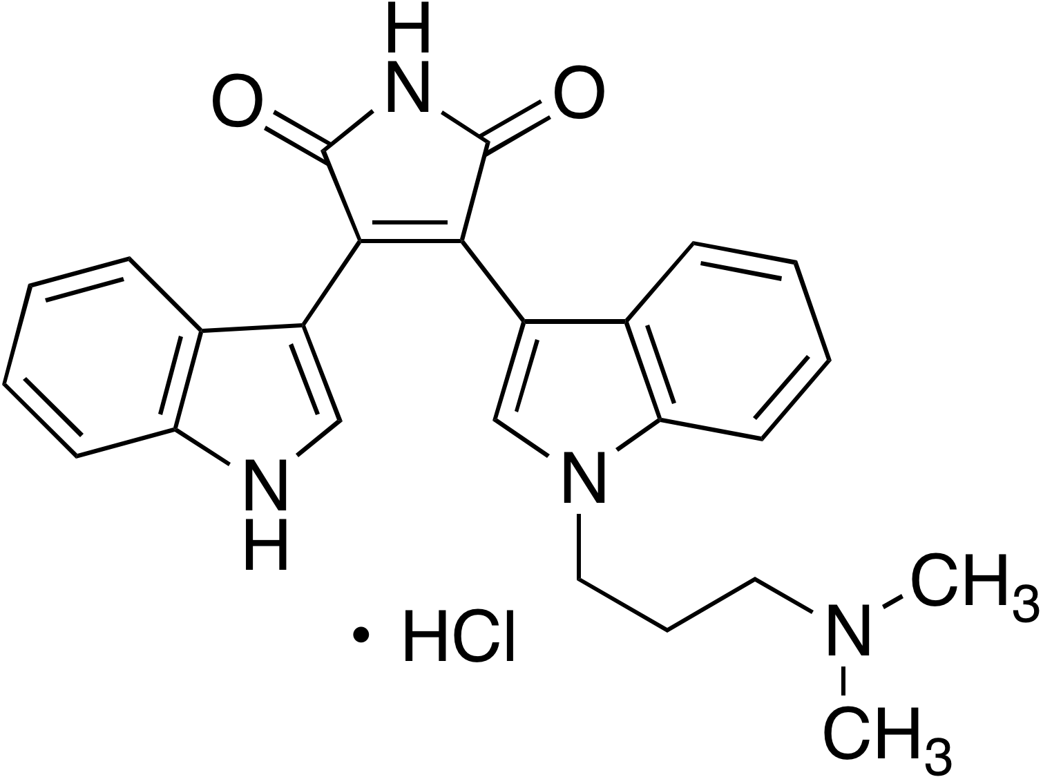 Bisindolylmaleimide I hydrochloride