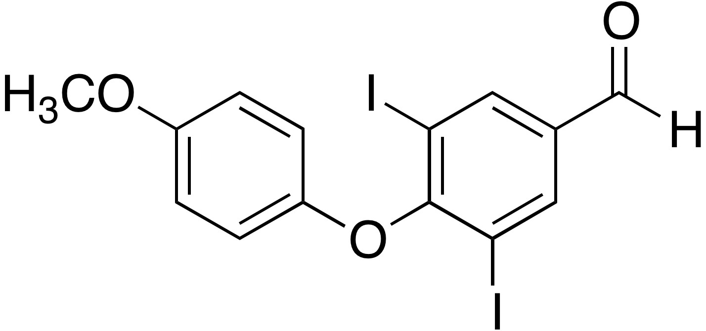 Levothyroxine methoxyphenoxy aldehyde impurity