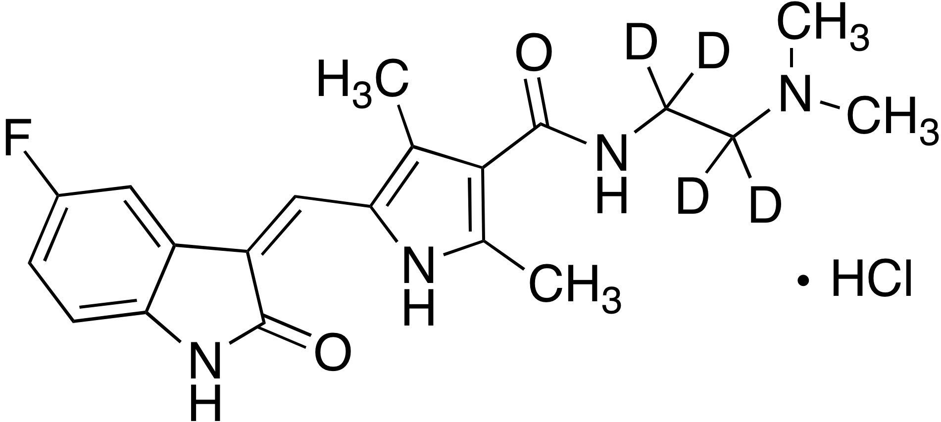 Sunitinib N,N-dimethyl-d<sub>4</sub> impurity