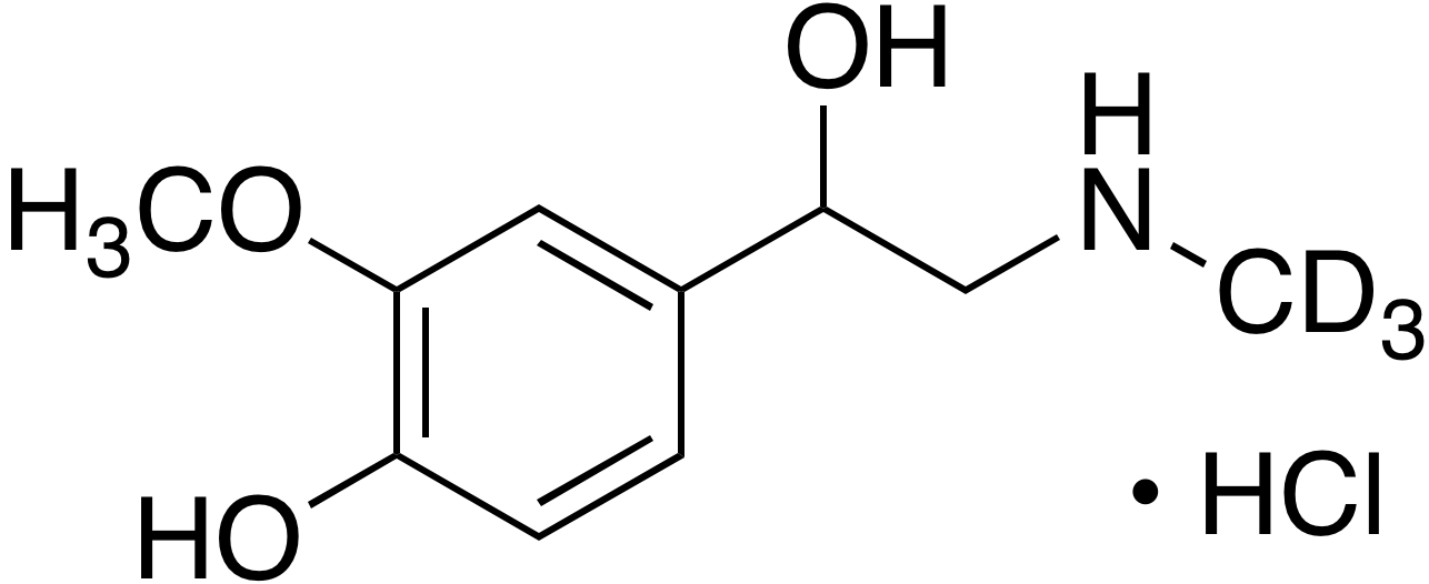 rac-Metanephrine-d<sub>3</sub> hydrochloride