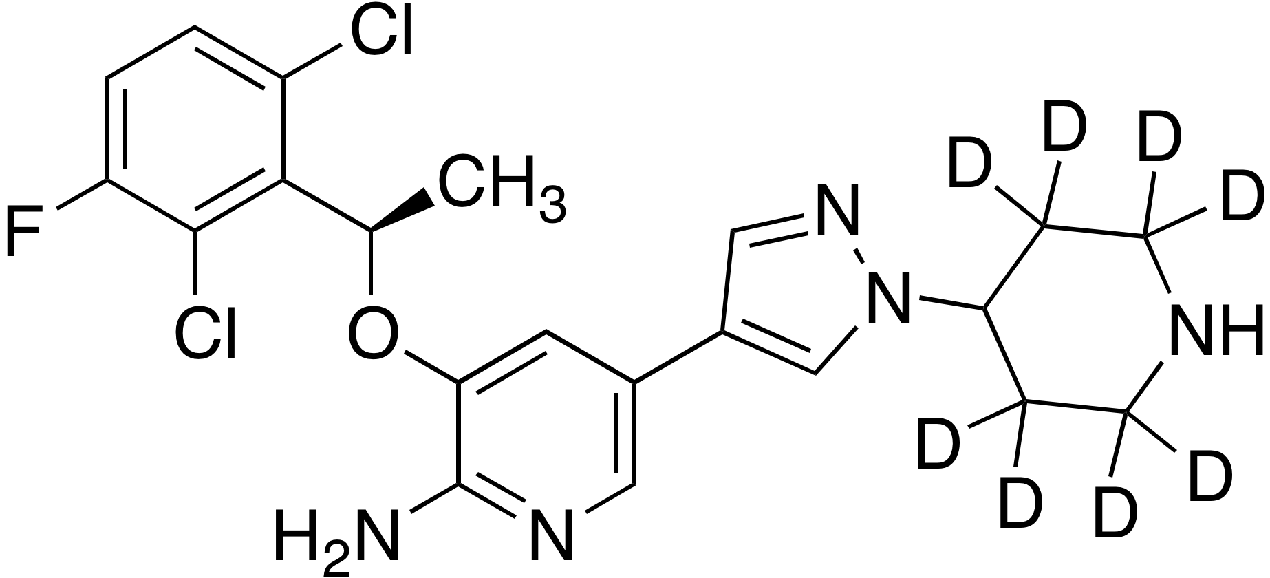 (R)-Crizotinib-d<sub>8</sub> (piperidine-2,2,3,3,5,5,6,6-d<sub>8</sub>)