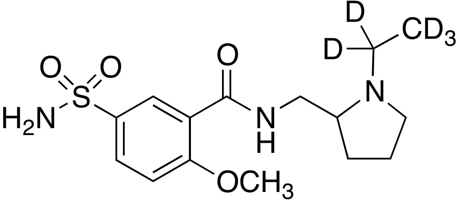 Sulpiride-d<sub>5</sub>