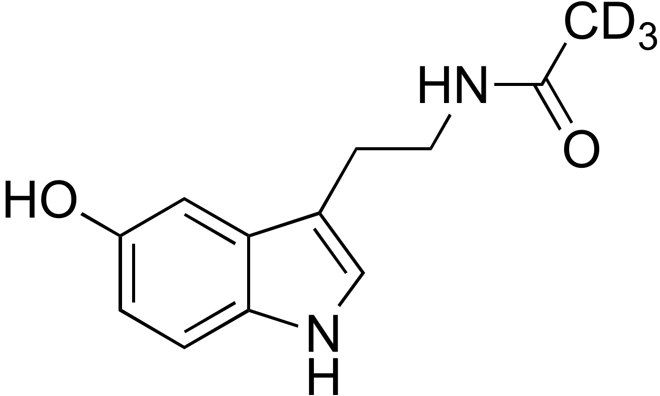 N-Acetyl-d<sub>3</sub>-5-hydroxytryptamine