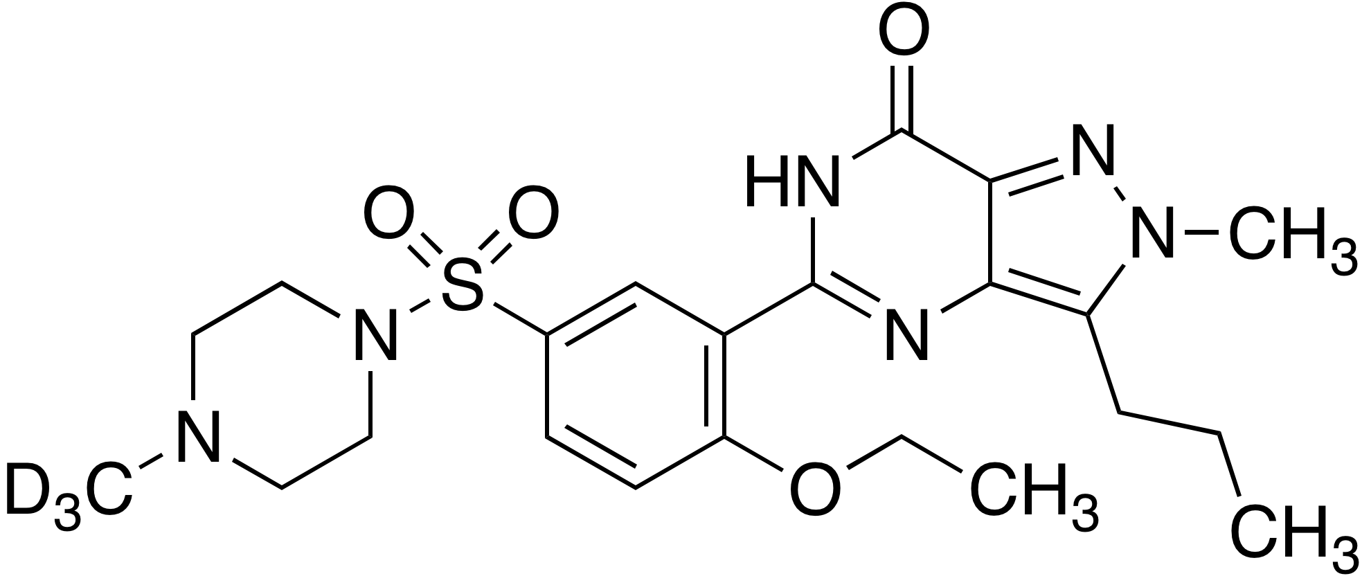 Iso sildenafil-d<sub>3</sub> (methyl-d<sub>3</sub>)