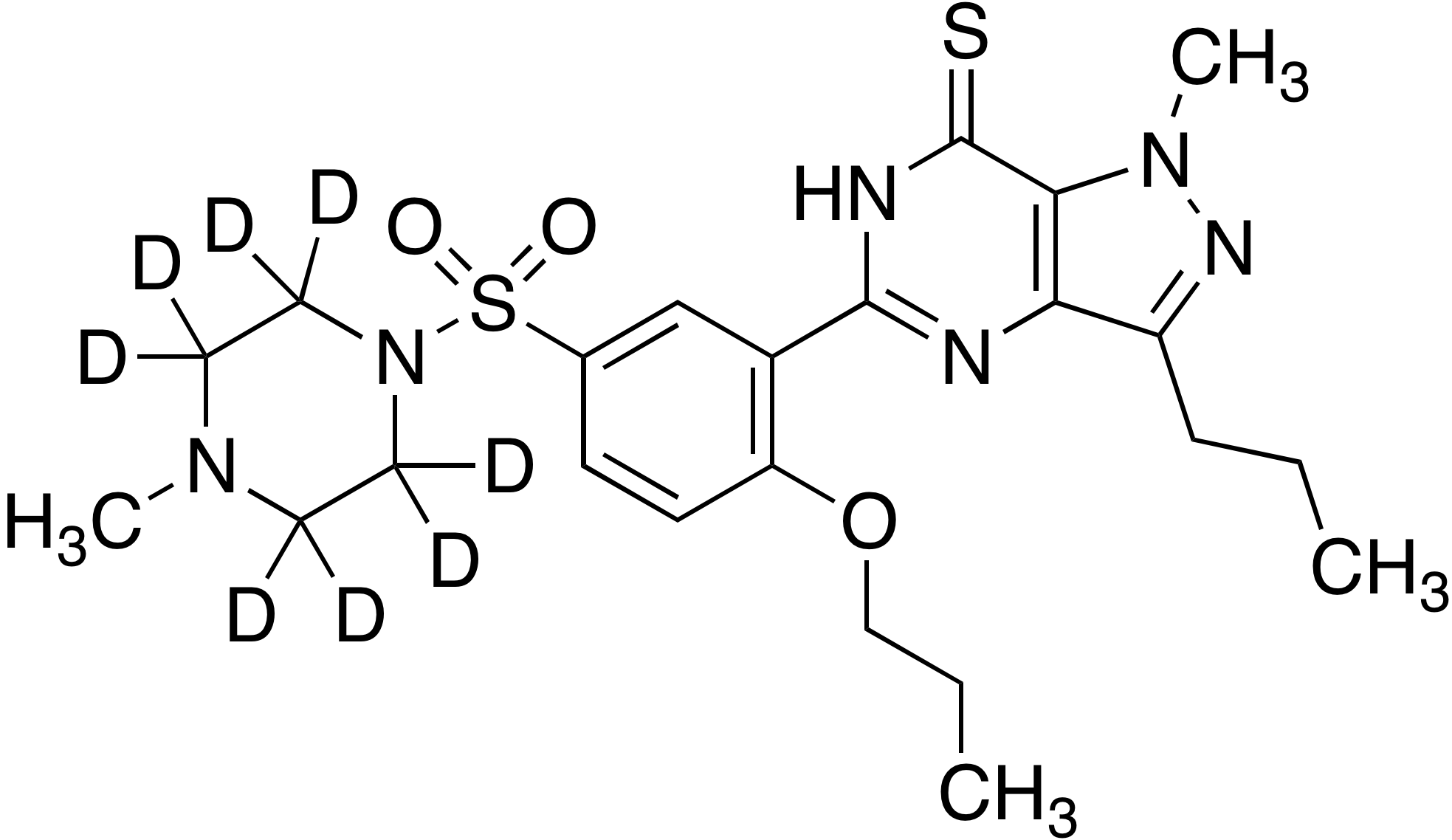 Propoxyphenyl thiosildenafil-d<sub>8</sub> (piperazine-d<sub>8</sub>)