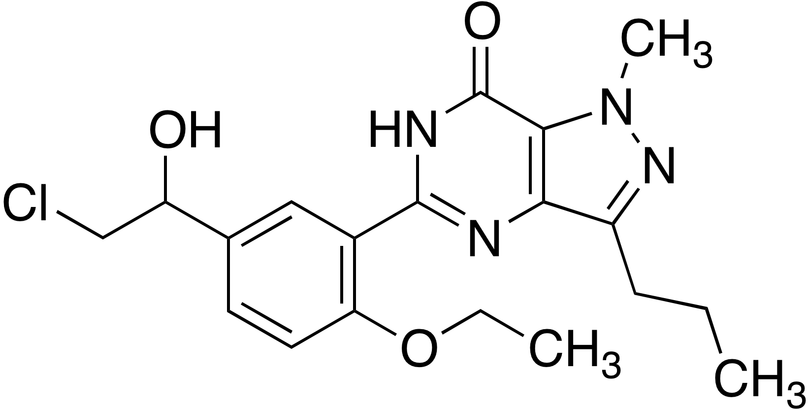 Hydroxy chlorodenafil