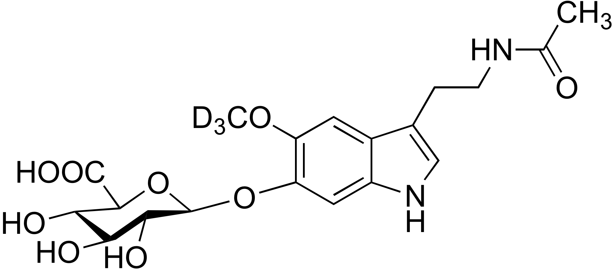 6-Hydroxymelatonin β-D-glucuronide-d<sub>3</sub>