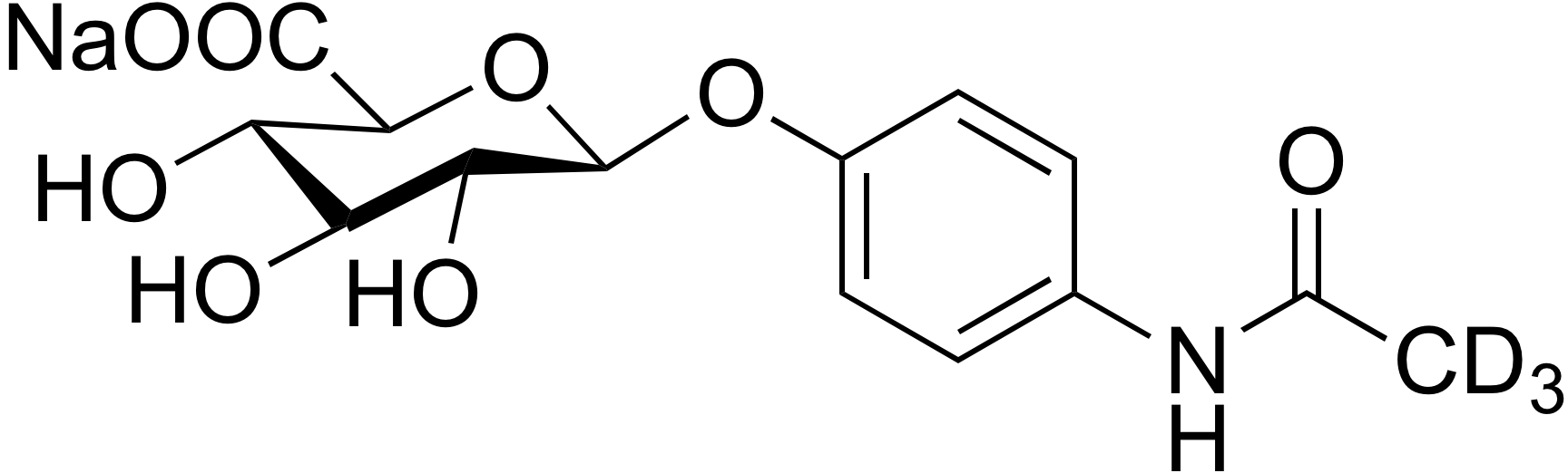 4-Acetamidophenyl β-D-glucuronide-d<sub>3</sub> sodium salt