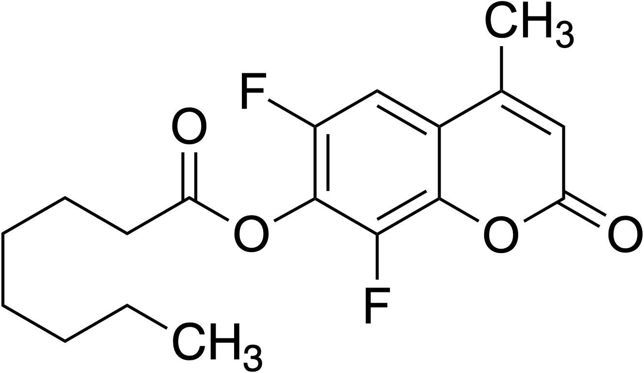 6,8-Difluoro-4-methylumbelliferyl octanoate