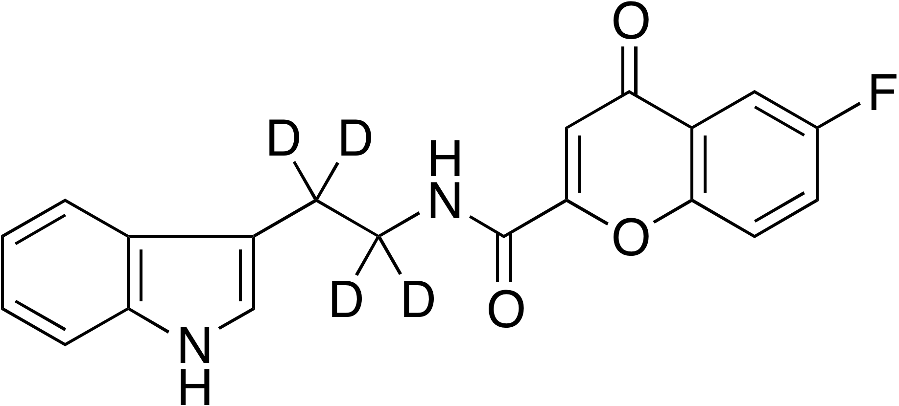 N-(2-(1H-Indol-3-yl)ethyl-d<sub>4</sub>)-6-fluoro-4-oxo-4H-chromene-2-carboxamide