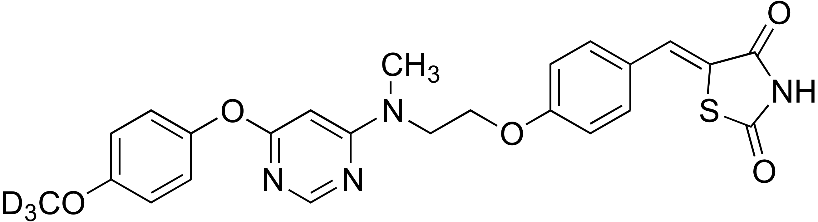 5-[4-(2-{[6-(4-Methoxy-d<sub>3</sub> phenoxy)pyrimidin-4-yl]methylamino}ethoxy)benzylidene]thiazolidine-2,4-dione