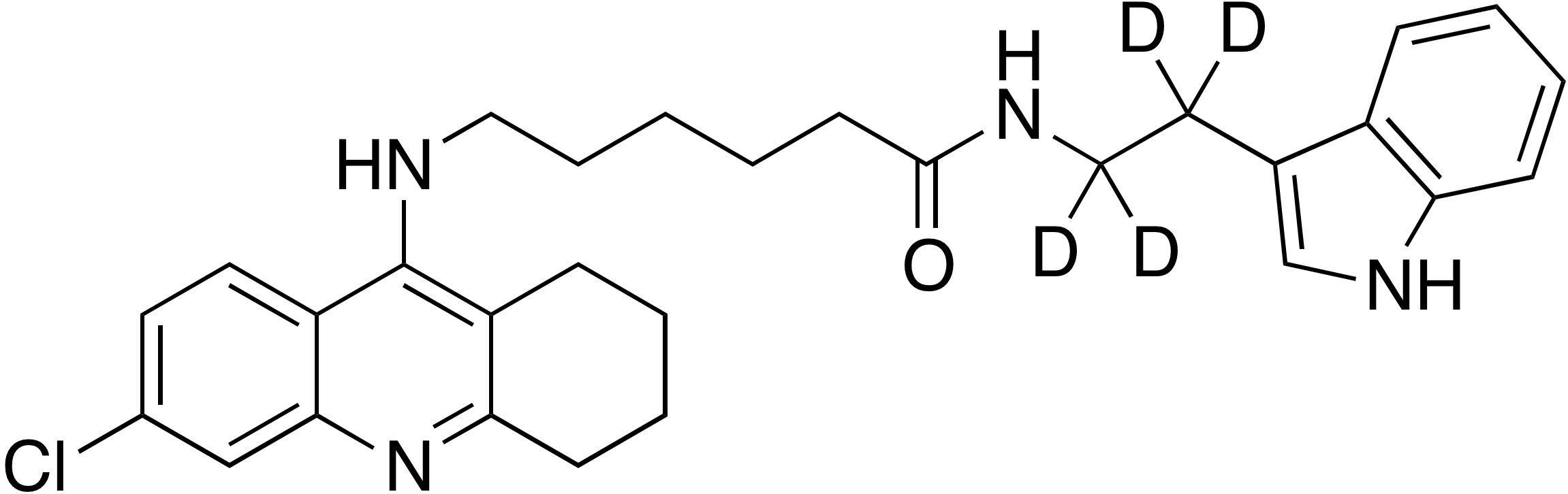 6-(6-Chloro-1,2,3,4-tetrahydroacridin-9-ylamino)hexanoic acid [2-(1H-indol-3-yl)ethyl-d<sub>4</sub>]amide