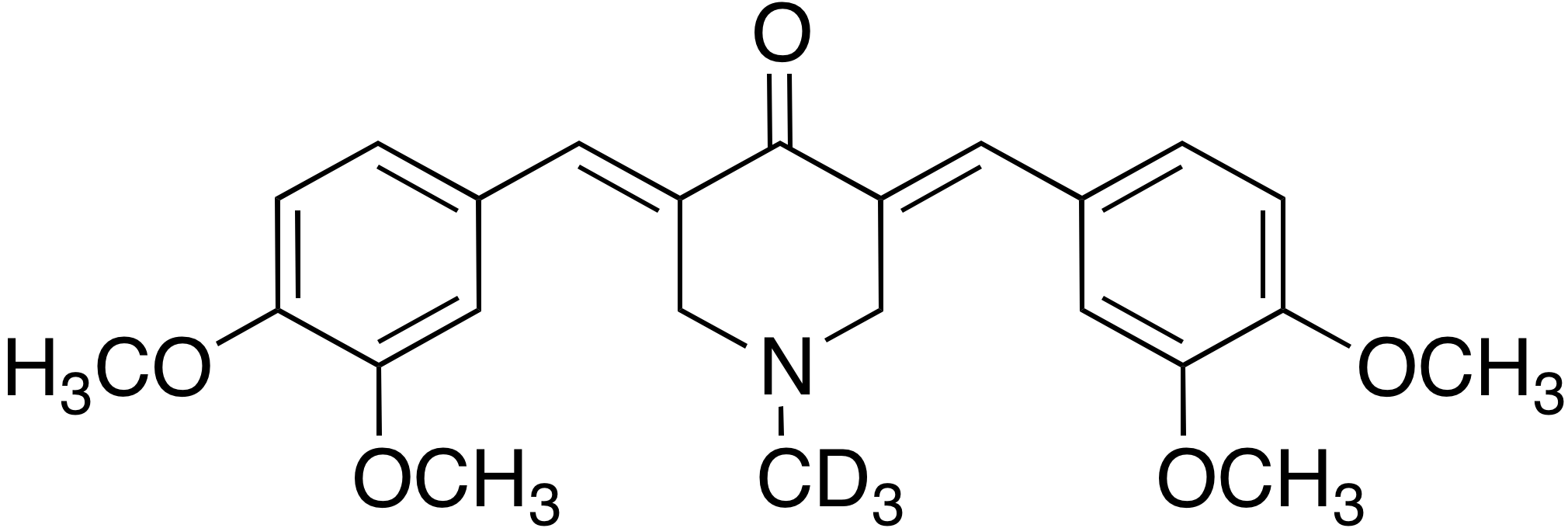 (3E,5E)-3,5-Bis(3,4-dimethoxybenzylidene)-1-methyl-d<sub>3</sub>-piperidin-4-one