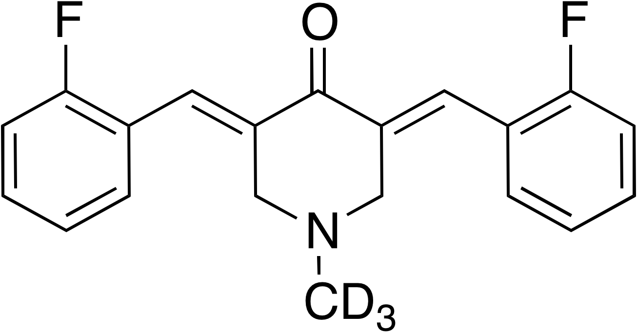 (3E,5E)-3,5-Bis(2-fluorobenzylidene)-1-methyl-d<sub>3</sub>-piperidin-4-one