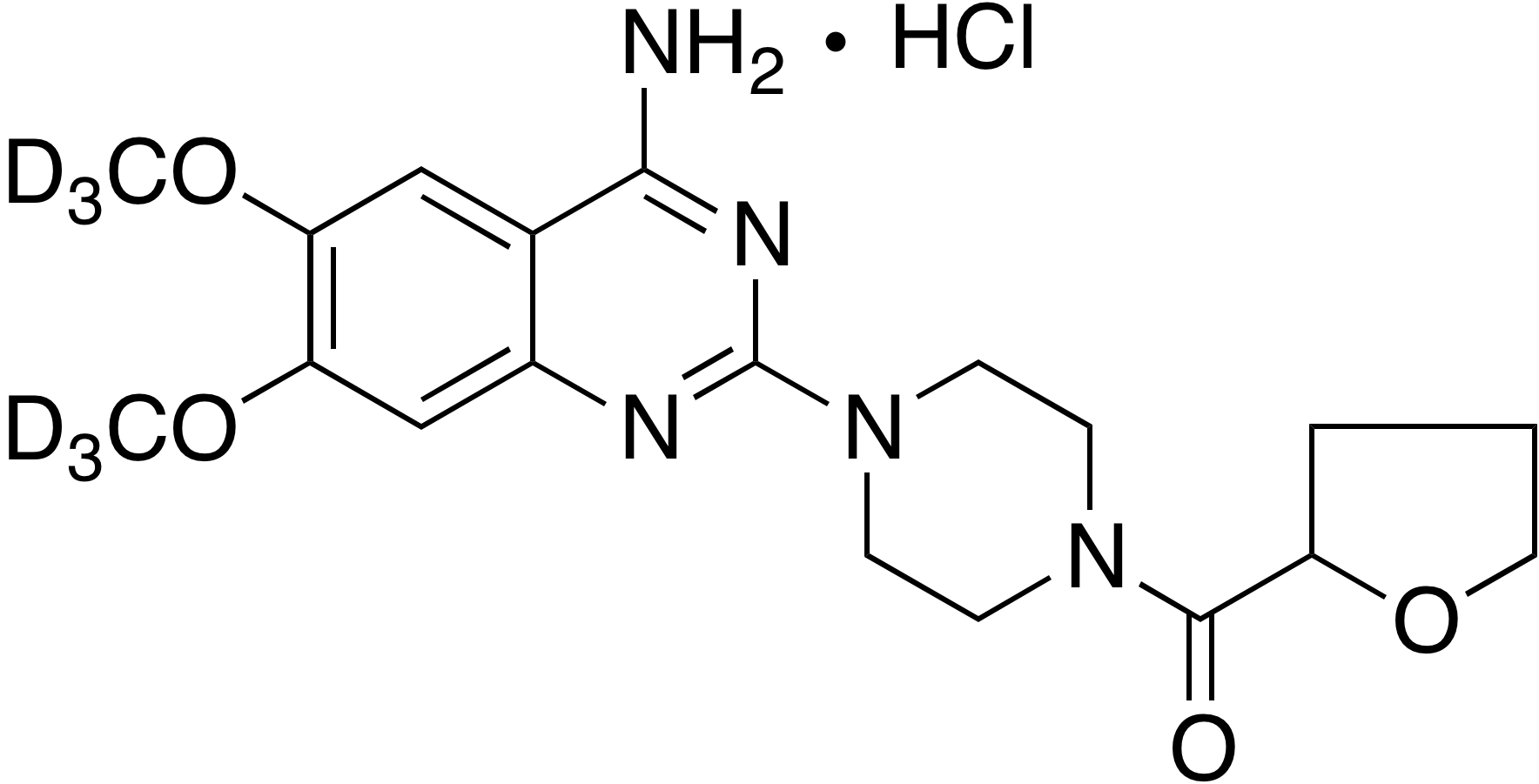 Terazosin-d<sub>6</sub> hydrochloride