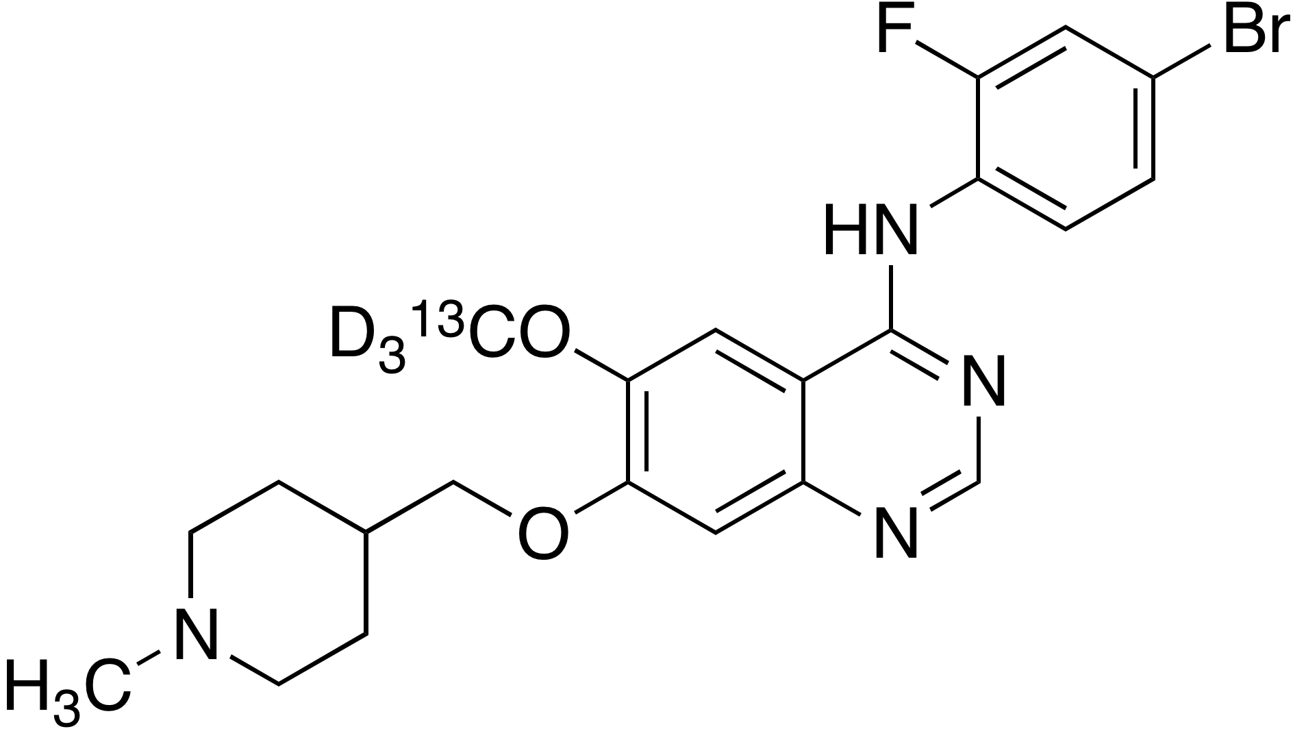 Vandetanib-<sup>13</sup>C, d<sub>3</sub>