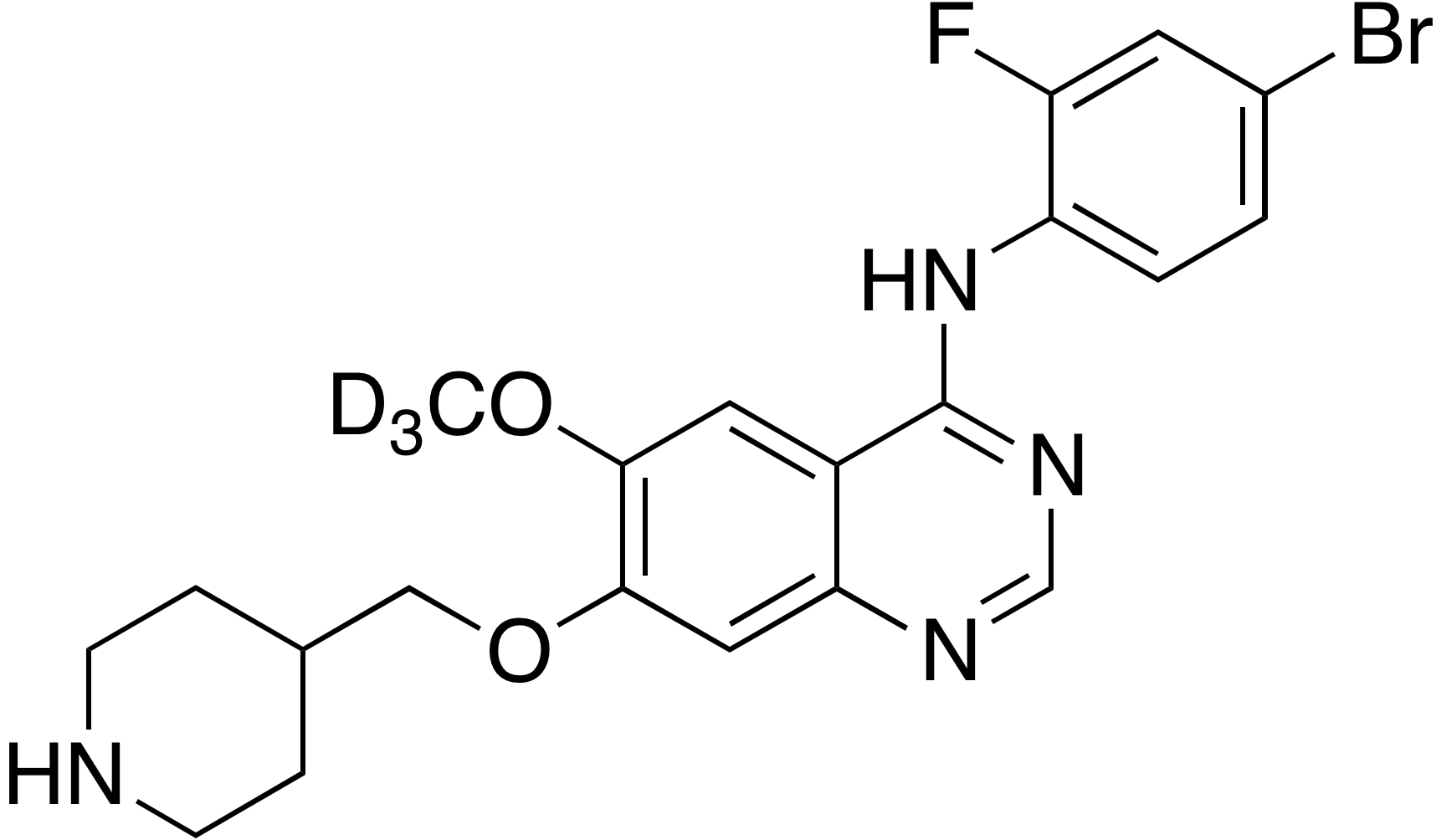 N-Demethyl Vandetanib-d3