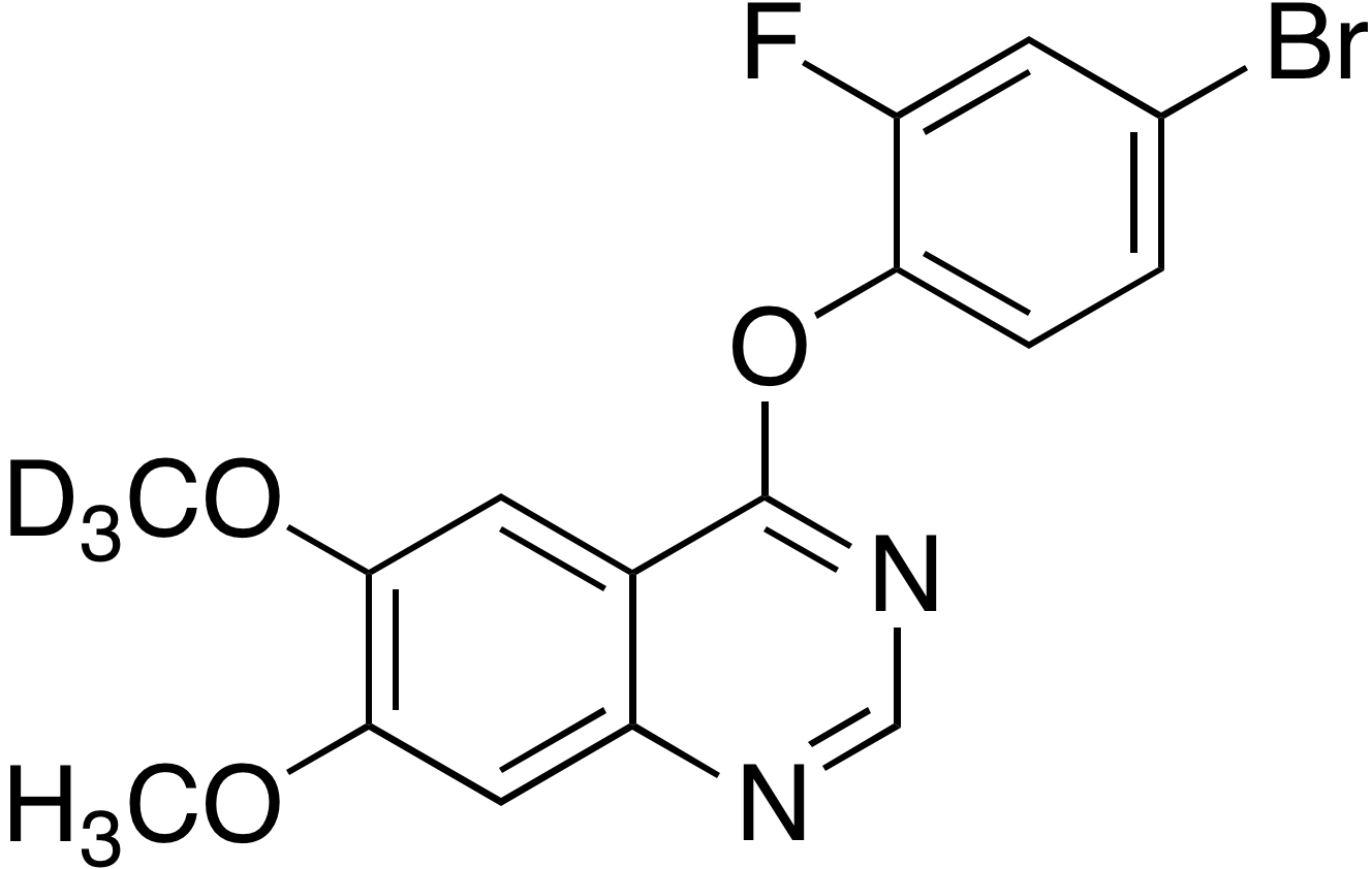 4-(4-Bromo-3-fluorophenoxy)-6-methoxy-d<sub>3</sub> 7-methoxyquinazoline