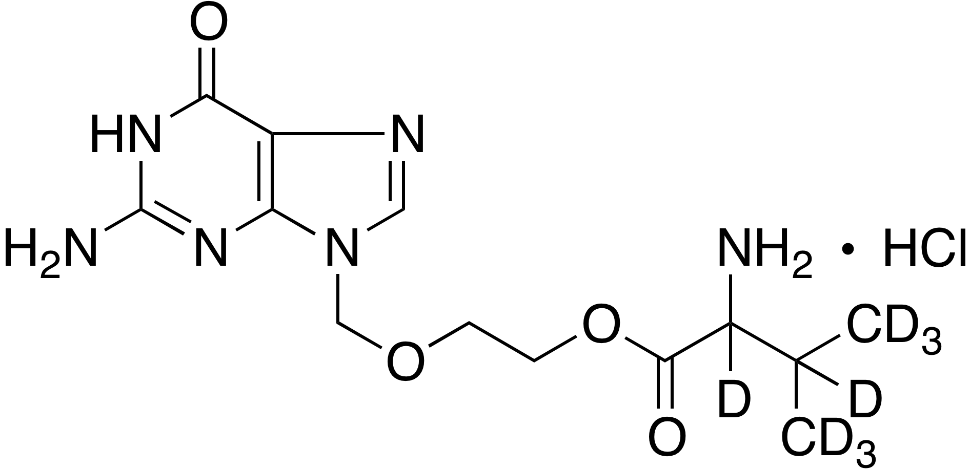 rac-Valacyclovir-d<sub>8</sub> hydrochloride