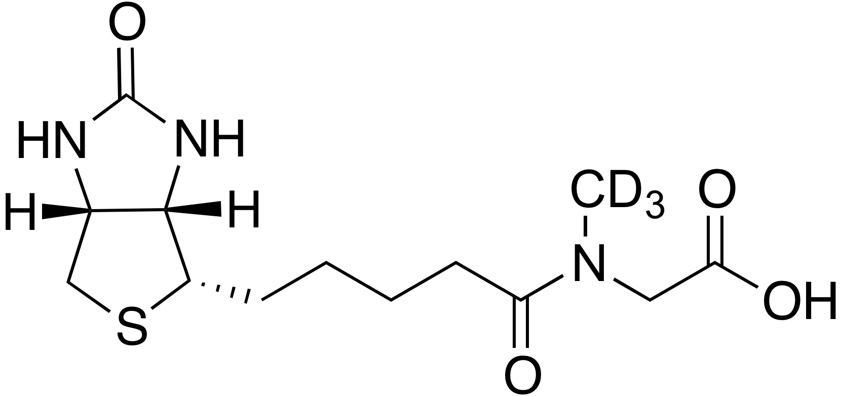 N-Methyl-d<sub>3</sub>-N-biotinyl glycine