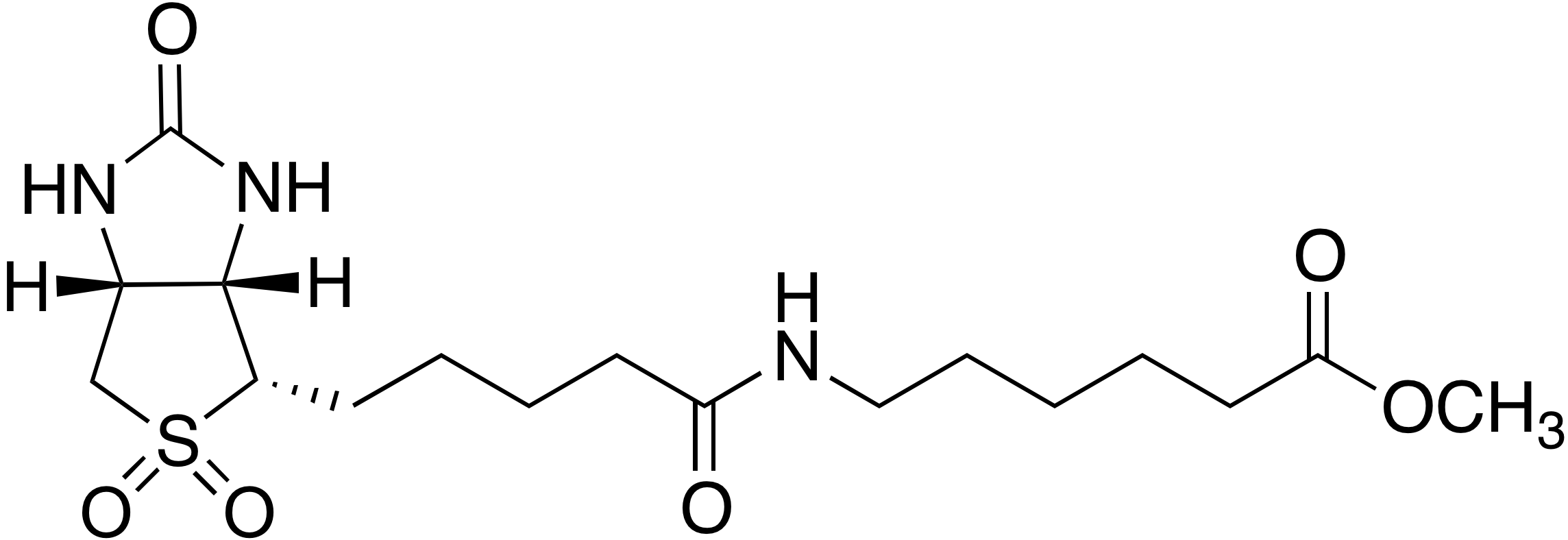 Biotin sulfone 6-aminohexanoic acid methyl ester