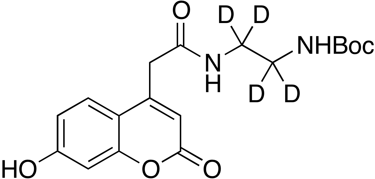 tert-Butyl 2-{[(7-hydroxy-2-oxo-2H-chromen-4-yl)acetyl]amino-d<sub>4</sub>}ethylcarbamate