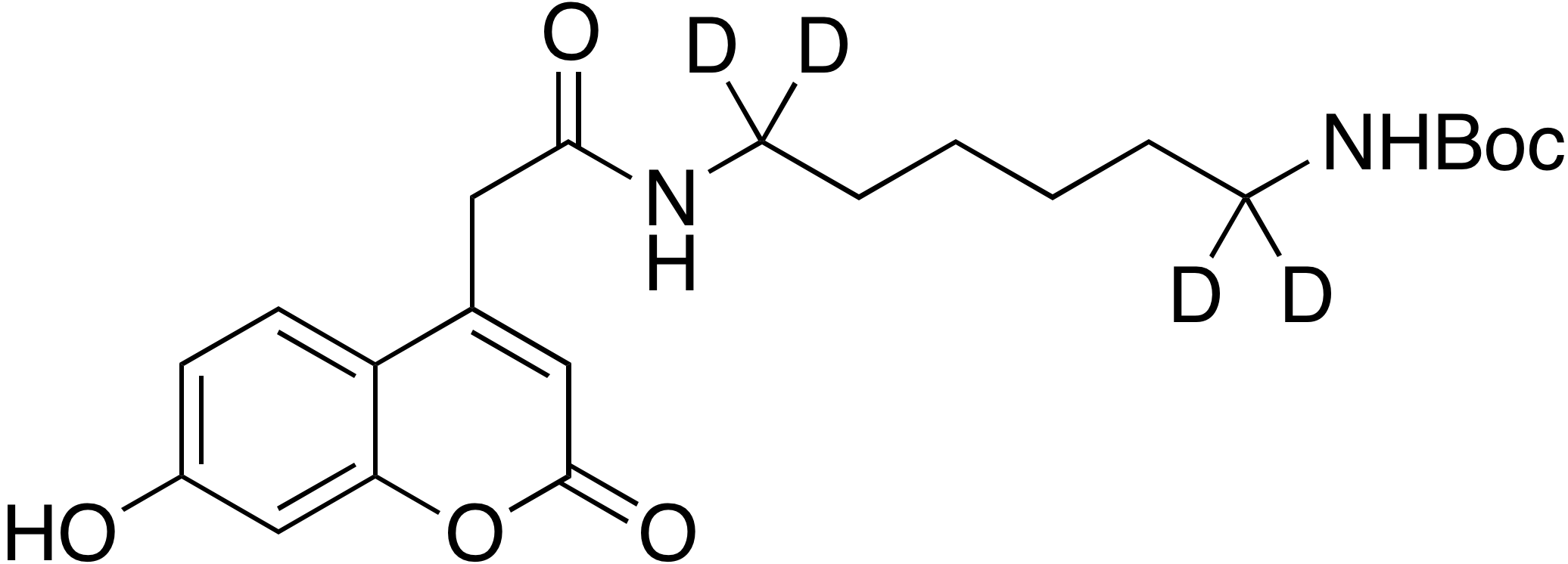 tert-Butyl 6-(7-hydroxycoumarin-4-acetamido)hexyl-d<sub>4</sub> carbamate