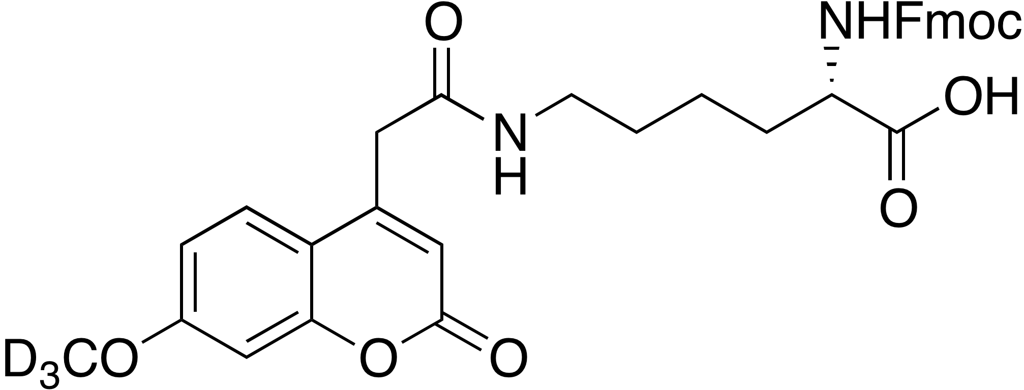 Fmoc-Lys(Mca-d<sub>3</sub>)-OH