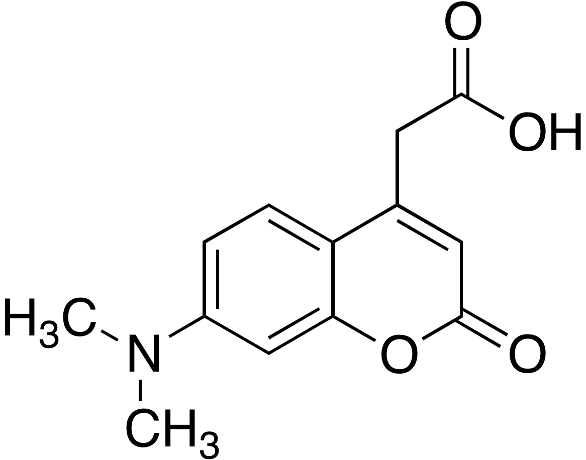 7-Dimethylaminocoumarin-4-acetic acid