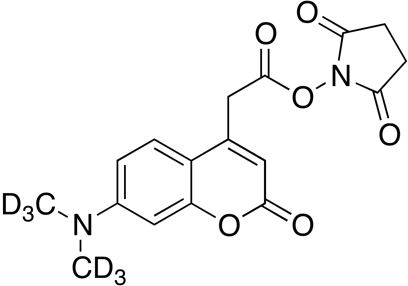 7-Dimethylamino-d<sub>6</sub>-coumarin-4-acetic acid, succinimidyl ester
