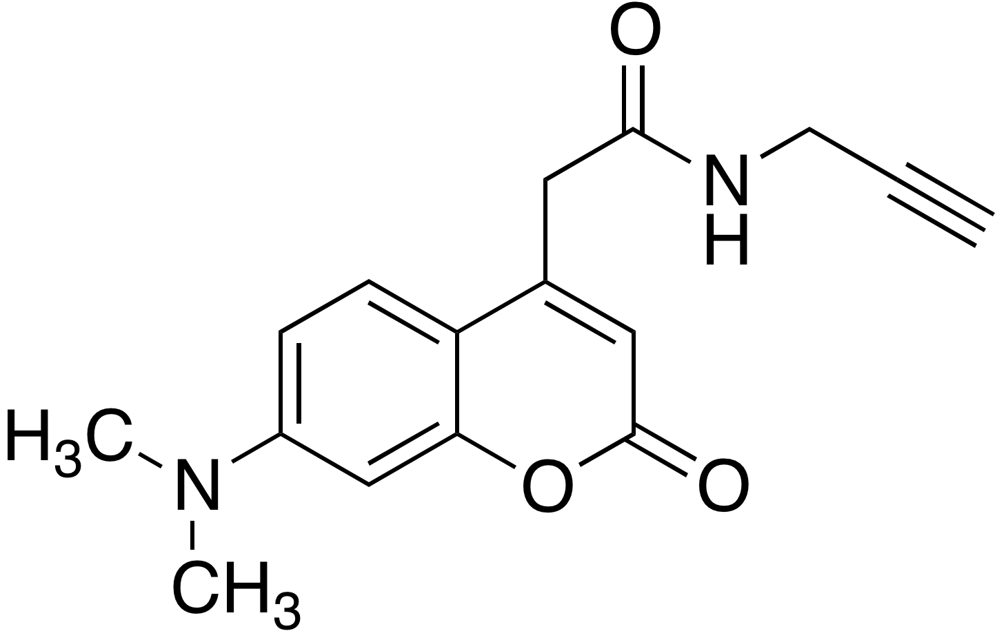 7-Dimethylaminocoumarin-4-acetic acid propargylamide