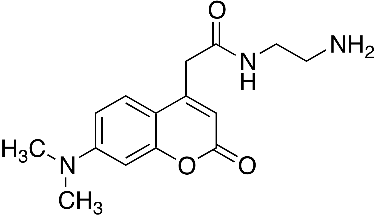 N-(2-Aminoethyl)-7-dimethylaminocoumarin-4-acetamide