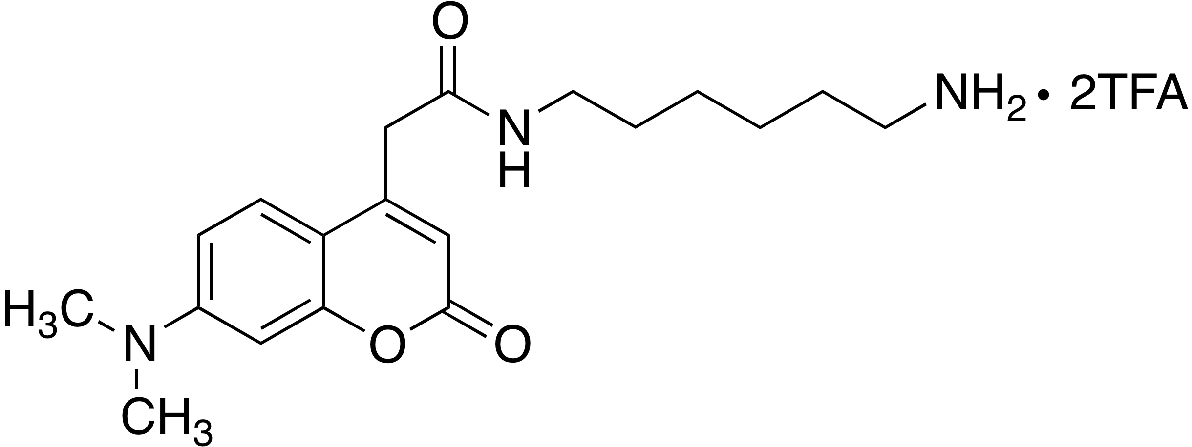 N-(6-Aminohexyl)-7-dimethylaminocoumarin-4-acetamide trifluoroacetate (1:2)