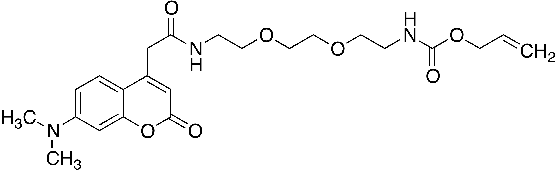 Allyl 2-(2-(2-(2-(7-(dimethylamino)-2-oxo-2H-chromen-4-yl)acetamido)ethoxy)ethoxy)ethylcarbamate