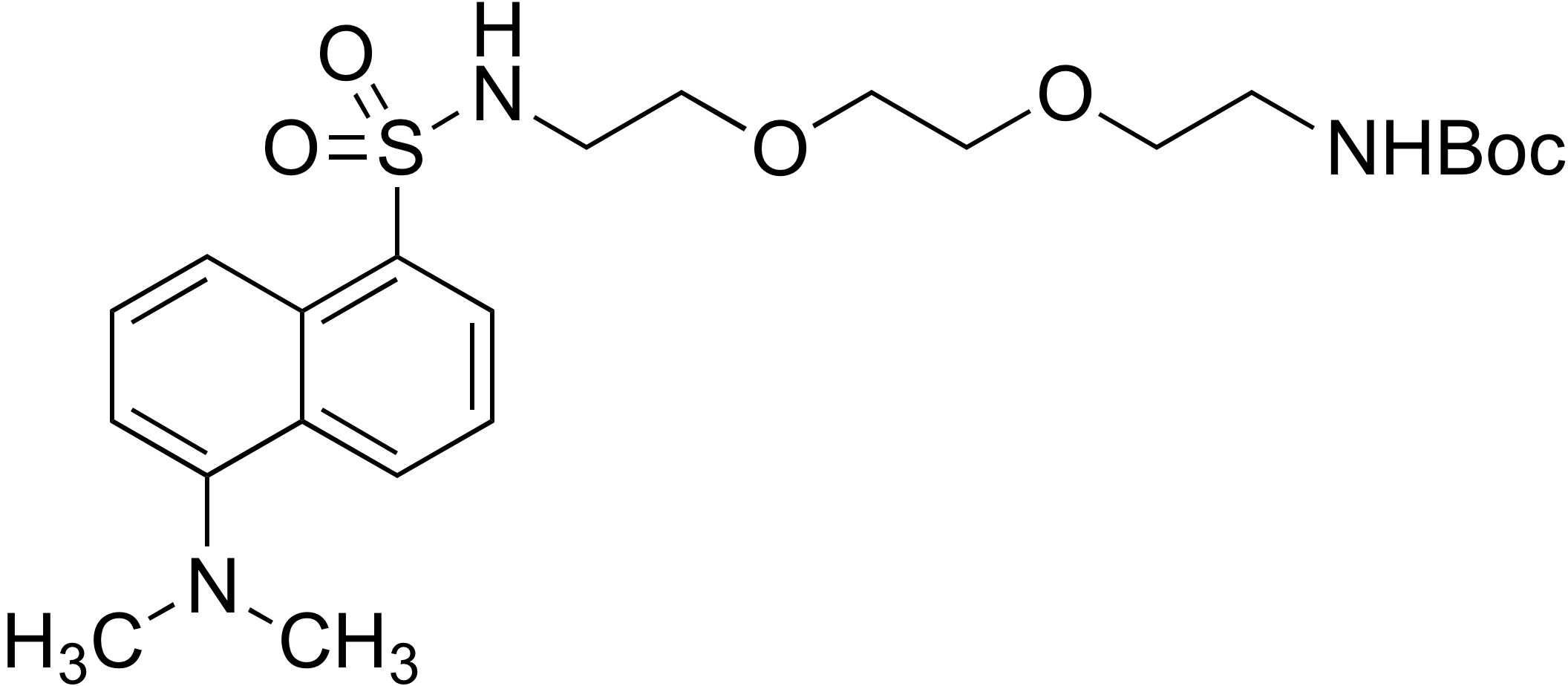 N-[8-tert-Butoxycarbonylamino-3,6-dioxaoctyl]-1-dimethylamino-5-naphthalene-sulfonamide