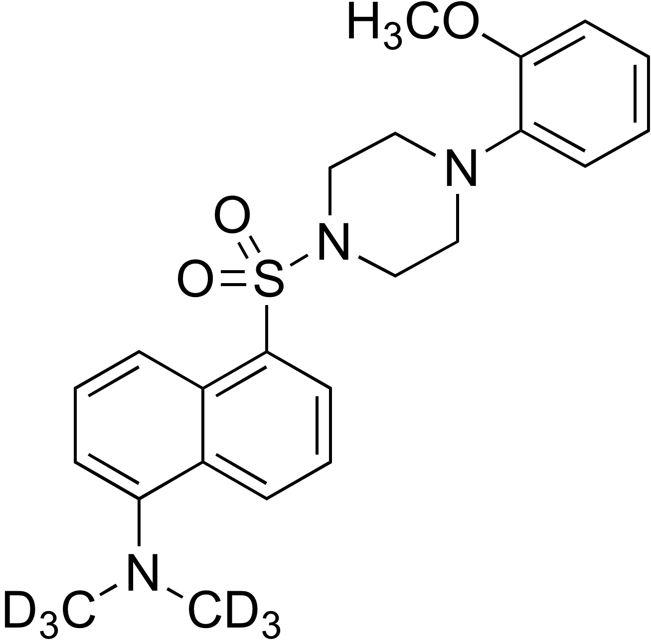 N-Dansyl-d<sub>6</sub>-1-(2-methoxyphenyl)piperazine