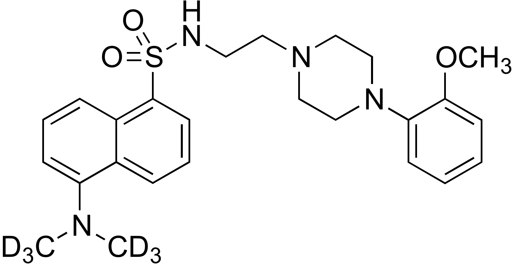 5-(Dimethylamino-d<sub>6</sub>)-N-[2-[4-(2-methoxyphenyl)piperazin-1-yl]ethyl]-1-naphthalenesulfonamide