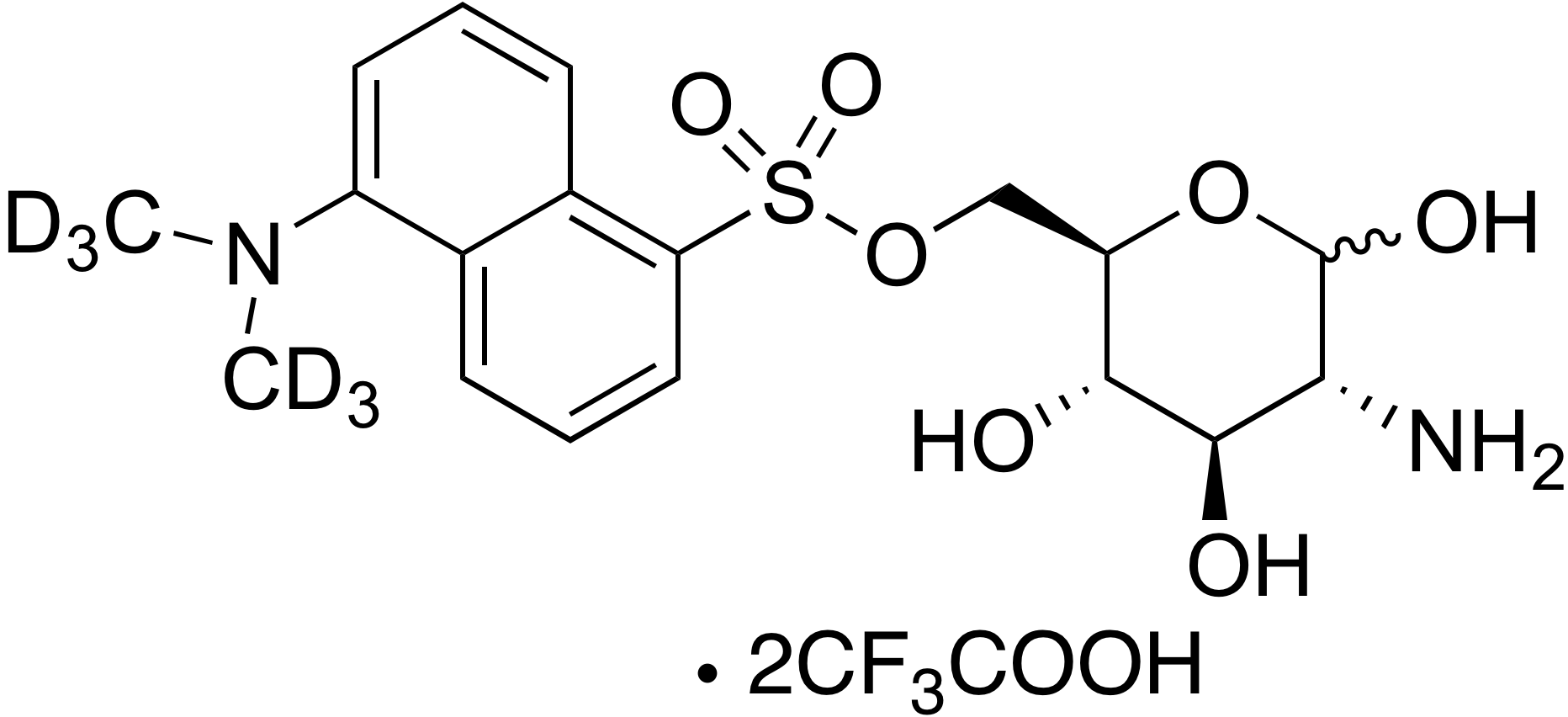 6-O-Dansyl-d<sub>6</sub>-glcosamine trifluoroacetate