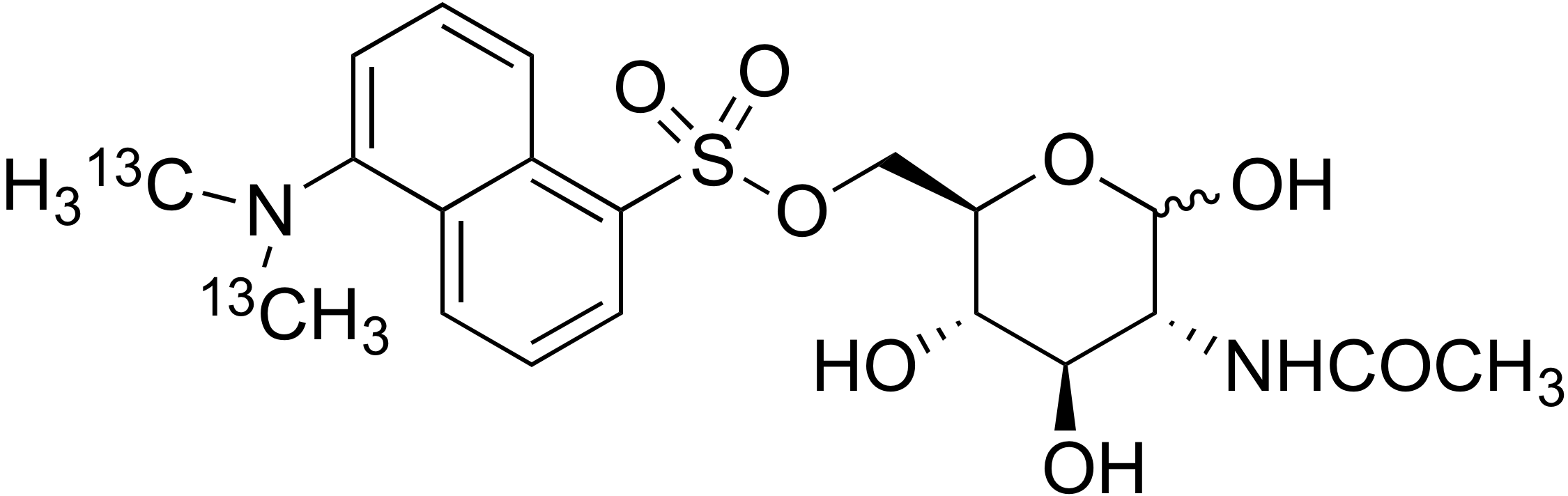 6-O-Dansyl-<sup>13</sup>C<sub>2</sub>-N-acetylglucosamine