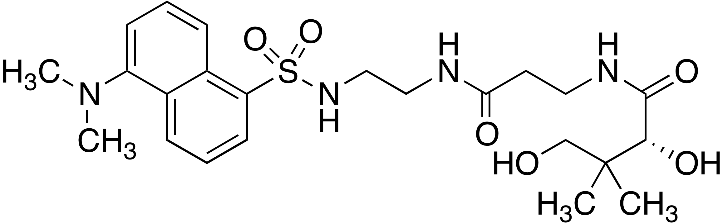 Dansyl-(<em>R</em>)-<em>N</em>-(3-((2-aminoethyl)amino)-3-oxopropyl)-2,4-dihydroxy-3,3-dimethylbutanamide