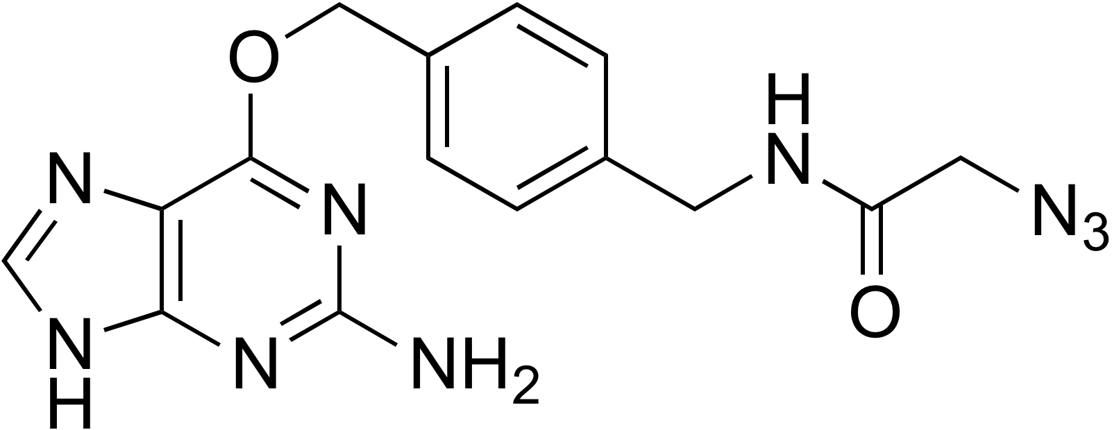 N-(4-((2-Amino-9H-purin-6-yloxy)methyl)benzyl)-2-azidoacetamide