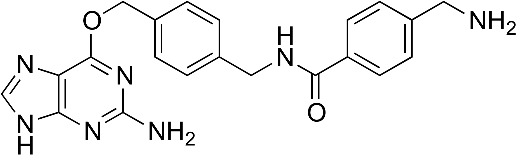 N-(4-((2-Amino-9H-purin-6-yloxy)methyl)benzyl)-4-(aminomethyl)benzamide