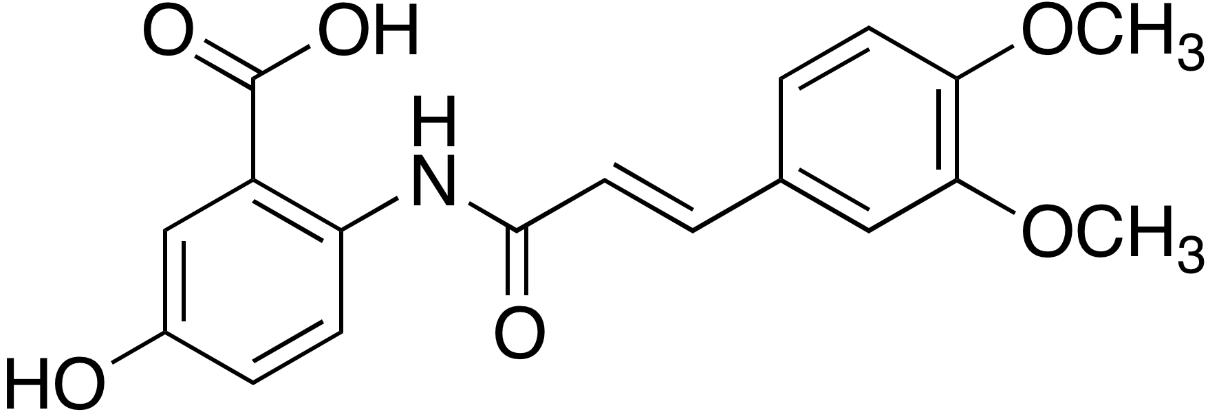 (E)-2-(3-(3,4-Dimethoxyphenyl)acrylamido)-5-hydroxybenzoic acid