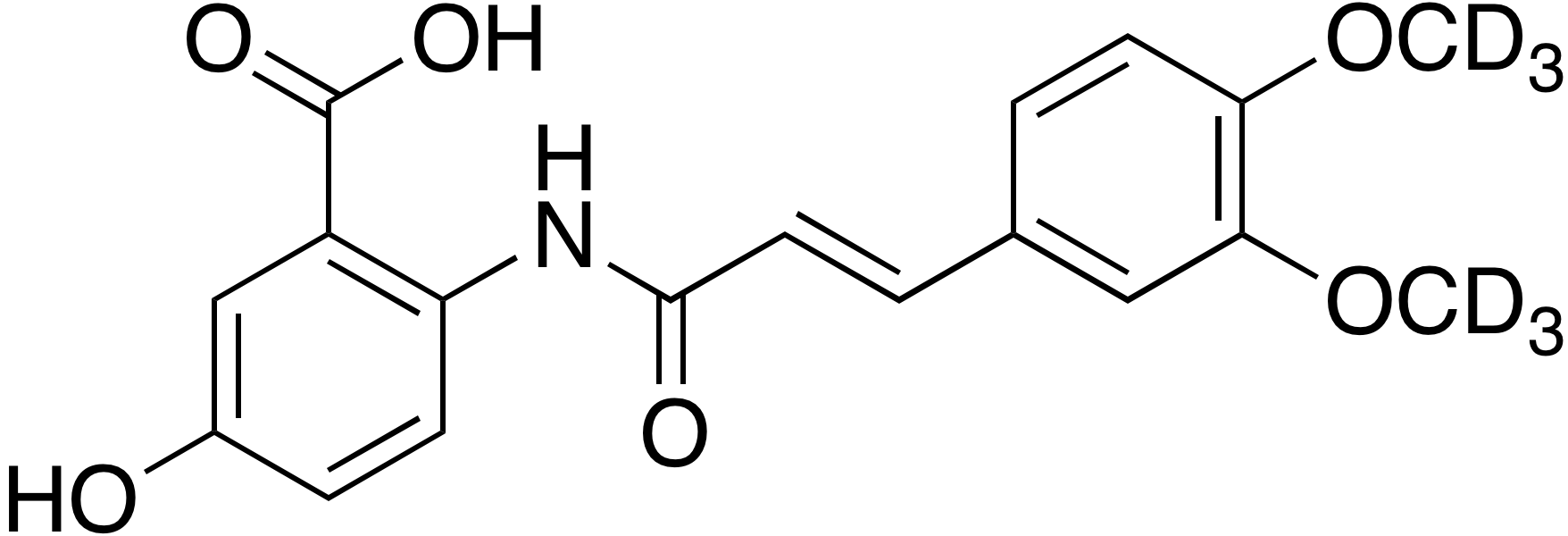 (E)-2-(3-(3,4-Dimethoxy-d<sub>6</sub>-phenyl)acrylamido)-5-hydroxybenzoic acid