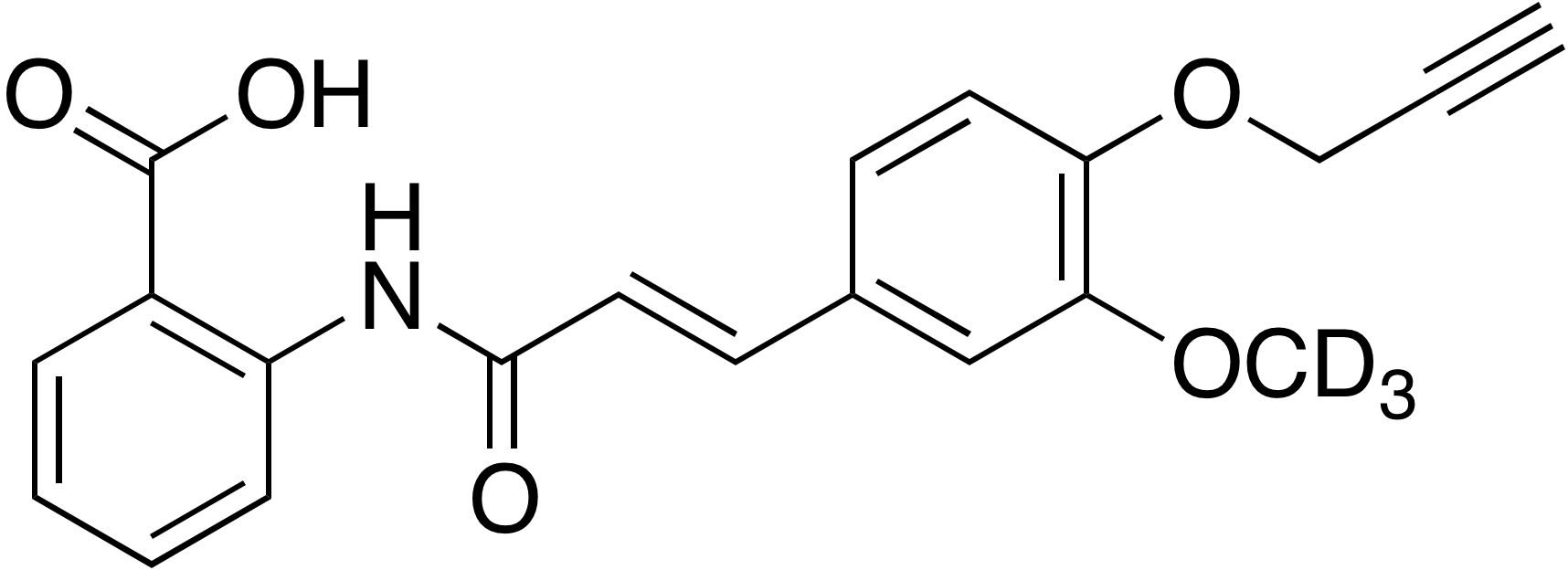 3-Methoxy-d<sub>3</sub>-4-propargyloxycinnamoyl anthranilate