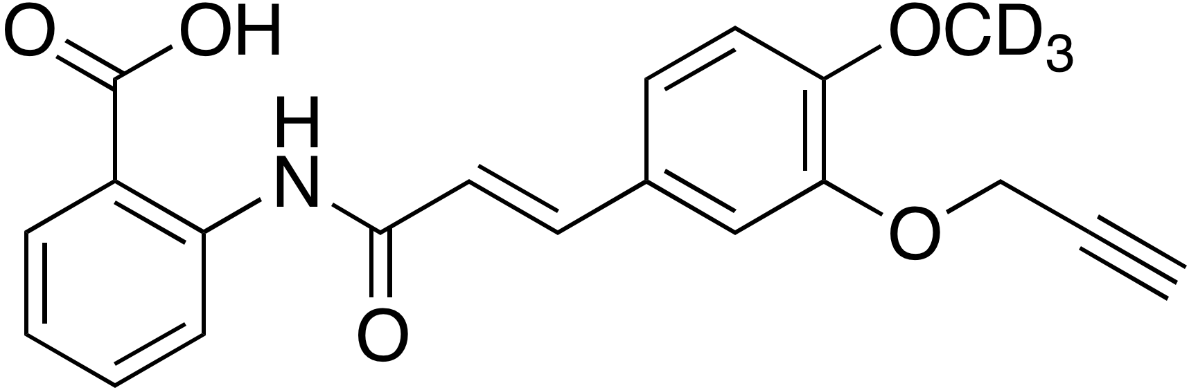 4-Methoxy-d<sub>3</sub>-3-propargyloxycinnamoyl anthranilate