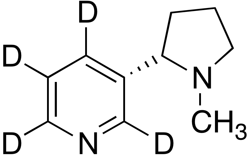 S-(-)-Nicotine-2,4,5,6-d<sub>4</sub>