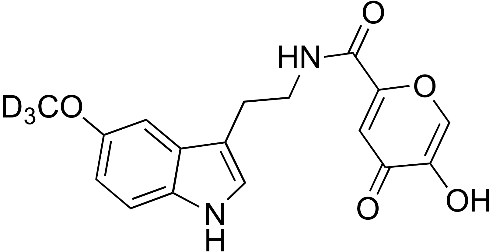 N-[2-(5-Methoxy-d<sub>3</sub>-indol-3-yl)-ethyl]-commenamide