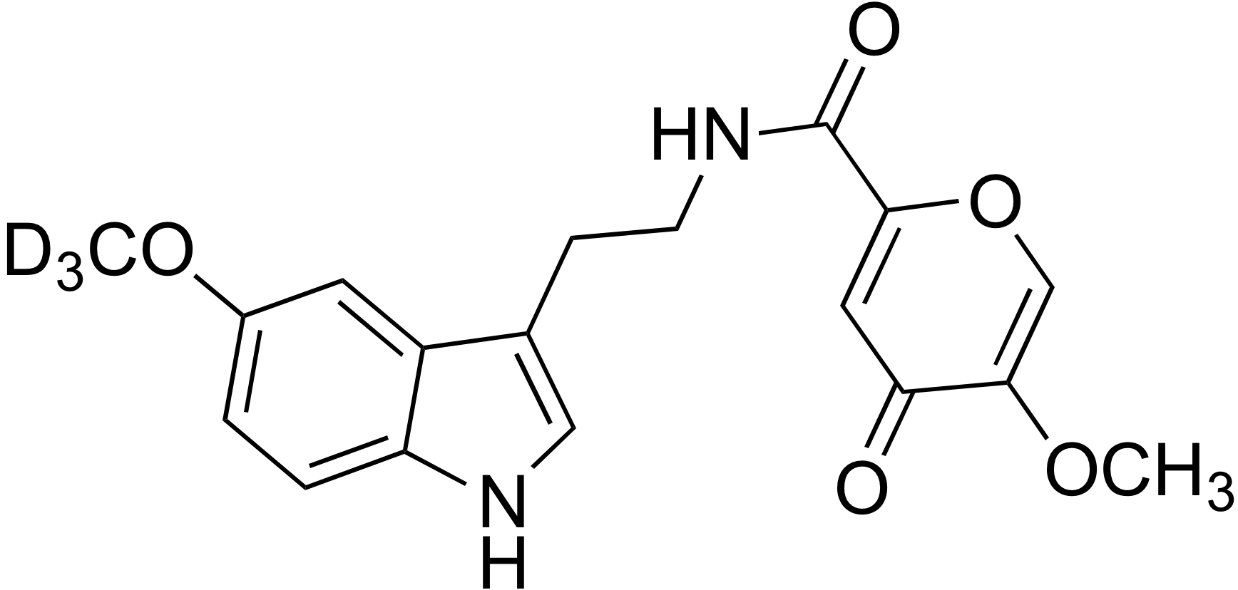N-[2-(5-Methoxy-d<sub>3</sub>-indol-3-yl)-ethyl]-2-methoxy-commenamide